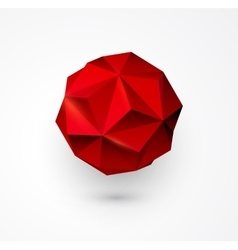 Abstract polygon shape low poly sphere vector image