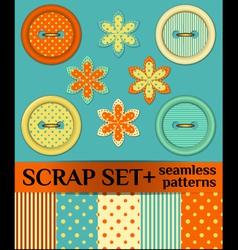 Buttons scrap set vector image vector image