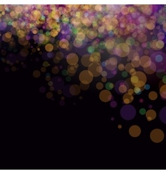 Colorful bokeh background vector image vector image