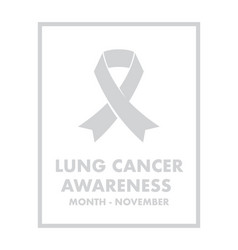 lung cancer awareness vector image vector image