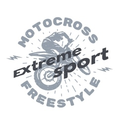 Motocross extreme sport vector image