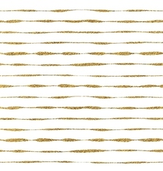 Seamless pattern of golden lines vector image