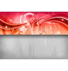 tech background line top red vector image