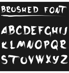 Brushed font white vector image vector image