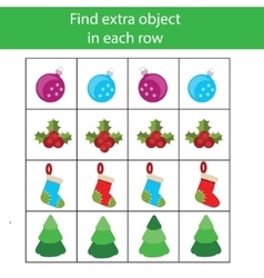 Find extra object in row Educational children vector image vector image