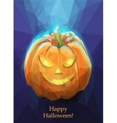 Low poly polygon pumpkin for Halloween vector image vector image