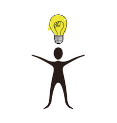 people with idea icon stock vector image