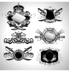 set of ornamental labels vector image