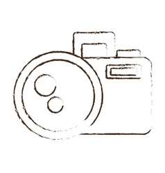 sketch draw photo camera picture image icon vector image