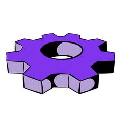 cog settings icon icon cartoon vector image