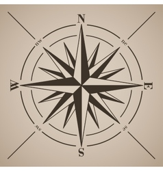 Compass rose vector image vector image