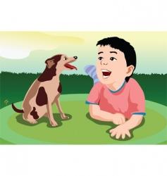 puppy sing vector image vector image