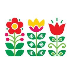 Swedish floral retro pattern traditional folk art vector image vector image