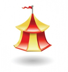 tent illustration vector image vector image