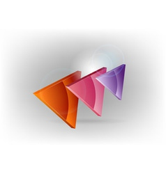 three colors triangles warm vector image