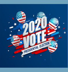 2020 usa presidential election dynamic banner vector