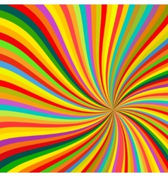 Abstract Colorful lines rotation Background vector image