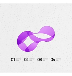 Abstract flowing shape on paper vector