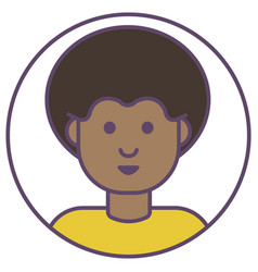 African man avatar man with stylish hairstyle vector