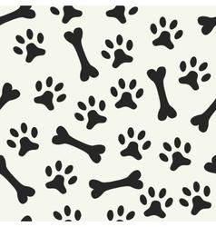 animal seamless pattern paw footprint vector image