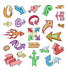 arrow icons arrowheads direction or arrowy vector image