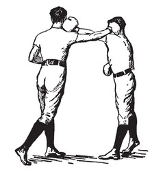 boxing vintage vector image