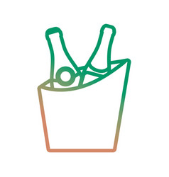 bucket with drinks icon vector image