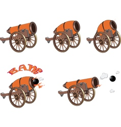 cannons for you design and computer game vector image
