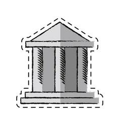 Cartoon building bank invesment money vector
