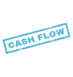 Cash Flow Rubber Stamp vector