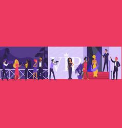 celebrity vip party cartoon vector image
