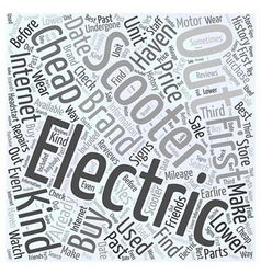 Cheap electric scooter Word Cloud Concept vector