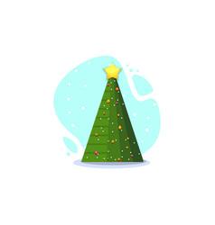 christmas fir isolated vector image