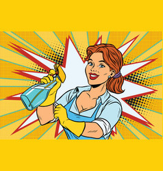 cleaner with spray head for washing vector image