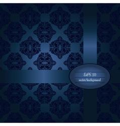 Dark blue classic seamless pattern vector image