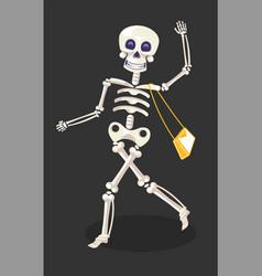 day dead or dia de los muertos skeleton with vector image