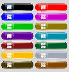Dices icon sign Set from fourteen multi-colored vector image