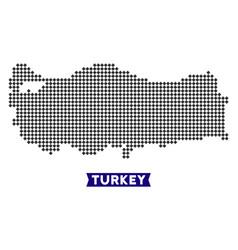 Dot turkey map vector