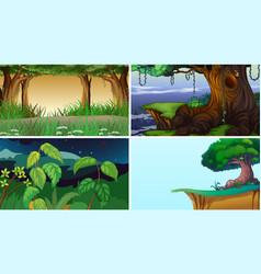 empty blank landscape nature scenes vector image