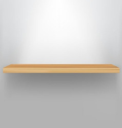 empty wood shelf vector image
