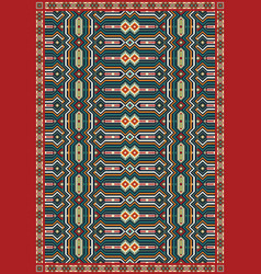 ethnic carpet tribal geometric pattern vector image