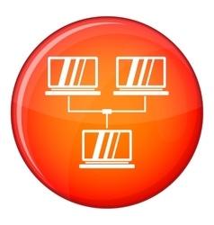 Exchange of data between computers icon vector
