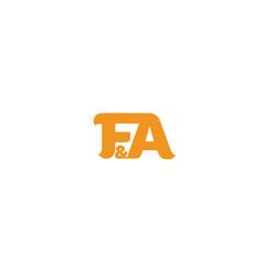 fa-logo vector image