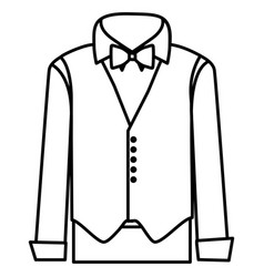 figure sticker suit with shirt waistcoat and vector image