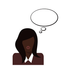 flat business woman icon vector image