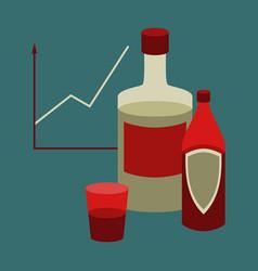 flat icon on stylish background alcohol vector image