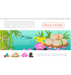 flat spa salon landing page template vector image