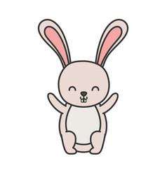 funny cute rabbit little animal cartoon vector image