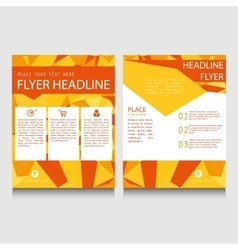 Geometric flyer template vector image