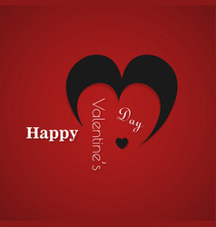 Happy valentines day typography design with paper vector
